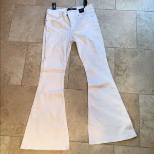White bell flare jeans
